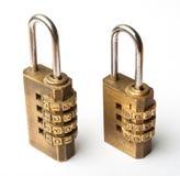 Para złotego kodu mistrzowski klucz Zdjęcie Royalty Free