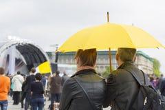 Para z parasolem Obrazy Stock
