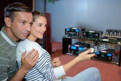 Para z pilot do tv dla systemu dźwiękowego Zdjęcie Royalty Free