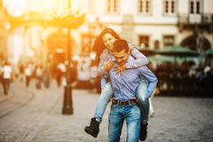 Para zabawę w mieście obrazy stock