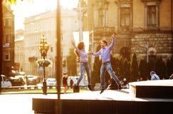 Para zabawę w mieście zdjęcie royalty free