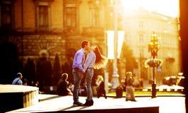 Para zabawę w mieście zdjęcia stock