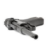 Parabellum black handgun Royalty Free Stock Image