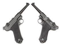 Parabellum black handgun Stock Photos