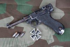 Parabellum handgun Royalty Free Stock Photos