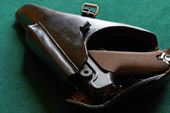 Parabellum pistol in a holster Royalty Free Stock Photo
