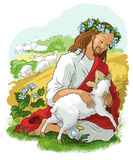 The parable of the lost sheep Royalty Free Stock Photography
