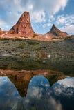 Parabola della montagna, parco naturale Ergaki, Siberia, Russia Fabulou Immagine Stock