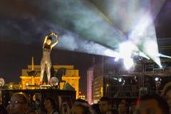 Paraboles show by Cie Off company Royalty Free Stock Photos