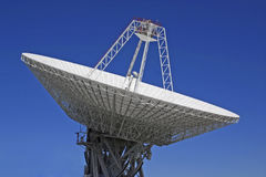 Parabolic antenna. S in Robledo de Chavel, Madrid, Spain royalty free stock photos