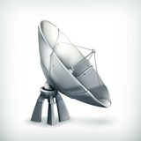 Parabolic antenna, icon Royalty Free Stock Images