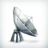 Parabolic antenna, icon stock illustration
