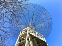 Parabolic antenna. In the Parc de la Villette in Paris France Royalty Free Stock Photo