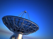 Parabolic antenna( radio telescope) Royalty Free Stock Photography