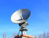 Parabolic antenna satellite communications Stock Photography