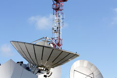 Parabolic antenna satellite communications Royalty Free Stock Photo