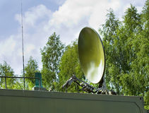 Parabolic antenna satellite communications Royalty Free Stock Images
