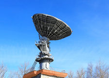 Parabolic antenna satellite communications Royalty Free Stock Image