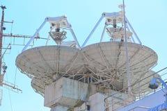 Free Parabolic Antennas Of A Warship. Radar Or Radiolocation Device. Royalty Free Stock Photos - 191287428