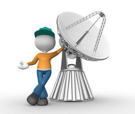 Parabolic dish Royalty Free Stock Photography