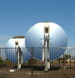 Parabolic dish solar reflectors Royalty Free Stock Photography