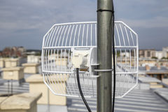 Parabolic grid antenna 3 Royalty Free Stock Image