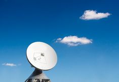 Parabolic reflector antenna Stock Images