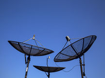 Parabolic satellite antenna Royalty Free Stock Photography