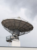 Parabolic satellite radar antenna dish for radio television Royalty Free Stock Photography