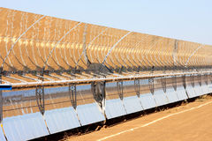 Parabolic solar panels, Guadix, Andalusia, Spain Royalty Free Stock Photo