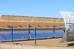 Parabolic trough solar panels, Guadix, Spain. The Andasol solar power station is Europe's first commercial parabolic trough solar thermal power plant, located royalty free stock photo