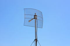 Parabolic Wireless Antenna Stock Photography