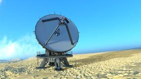 Parabolische antenne Stock Foto