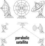 Parabolische sattelit Stock Afbeeldingen