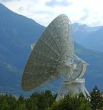 parabolisk antenn Arkivfoto