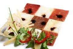Paraboloïde avec de la viande et des légumes Photographie stock