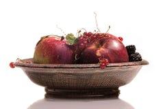 Paraboloïde avec des fruits Photographie stock