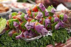 Paraboloïde avec le kebab végétal images stock