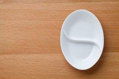 Paraboloïde blanc vide Image libre de droits