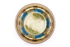 Paraboloïde coloré d'isolement de poterie Images libres de droits