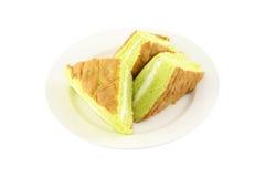 Paraboloïde de gâteau de crème d'éponge Photographie stock