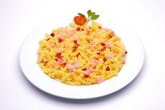 Paraboloïde de pâtes de tomate Images libres de droits