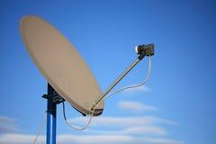 Paraboloïde de récepteur satellite Images stock