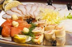Paraboloïde de viande et des poissons images libres de droits