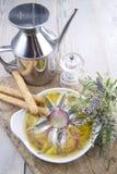 Paraboloïde des anchois et des oignons images libres de droits