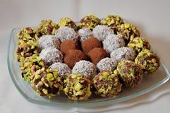 Paraboloïde des pralines de chocolat Photos libres de droits