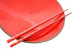 Paraboloïde et baguettes rouges avec le type oriental photos libres de droits