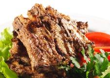 Paraboloïdes chauds de viande - viande de BBQ Photo stock