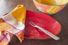 Paraboloïdes de portion en céramique colorés Images libres de droits