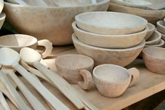 Paraboloïdes en bois Images stock